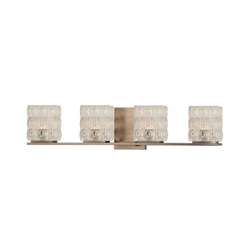 Hudson Valley Lighting Modern Bathroom Light with Clear Glass in Brushed Bronze Finish 6244-BB