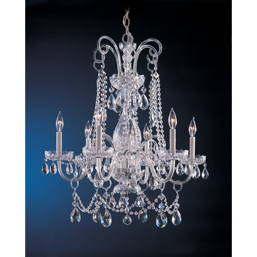 Crystorama Lighting Crystal Chandelier in Polished Chrome Finish 1030-CH-CL-S
