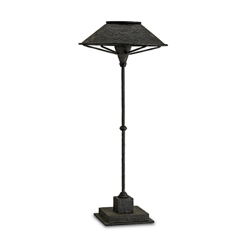 Currey and Company Lighting Table Lamp in Smoke Black Finish 6871