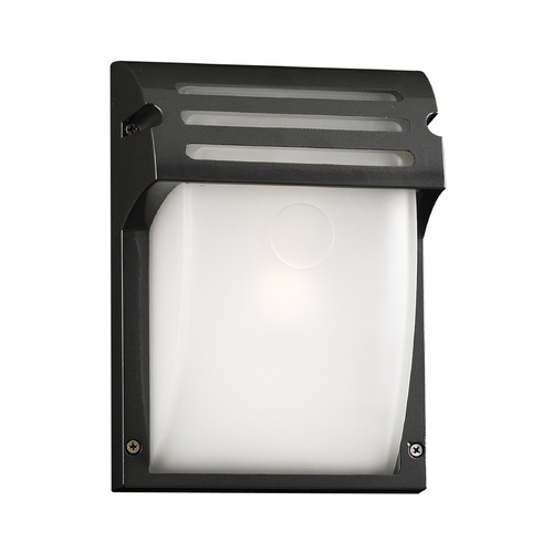 PLC Lighting Modern Outdoor Wall Light with White Glass in Bronze Finish 3607  BZ