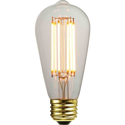 LEDs by ZEPPELIN ST58 LED Light Bulb with Decorative Filament 15-Watts Equivalent 3ST58CL 2000K