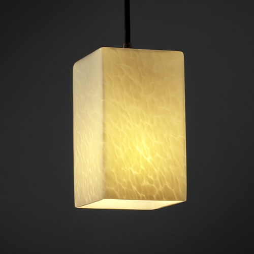 Justice Design Group Justice Design Group Fusion Collection Mini-Pendant Light FSN-8816-15-DROP-MBLK