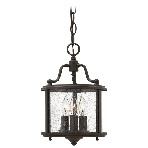 Hinkley Hinkley Gentry Olde Bronze Pendant Light with Drum Shade 3470OB