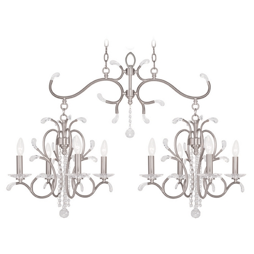 Livex Lighting Livex Lighting Serafina Brushed Nickel Crystal Chandelier 51007-91
