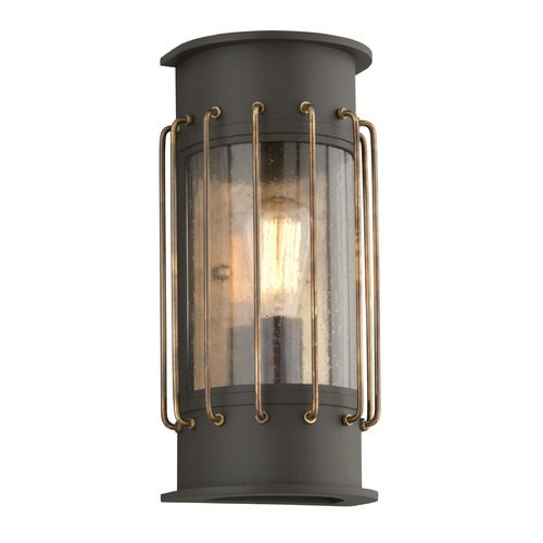Troy Lighting Troy Lighting Cabot Bronze with Historic Brass Accents Outdoor Wall Light BF4662