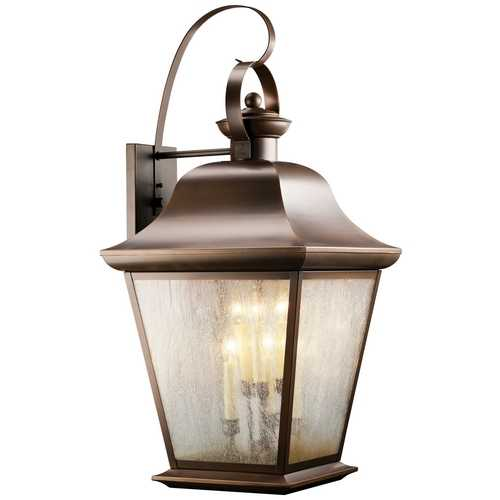 Kichler Lighting Kichler Outdoor Wall Light with Clear Glass in Olde Bronze Finish 9703OZ