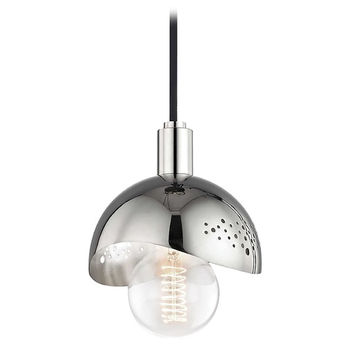 Mitzi by Hudson Valley Mid-Century Modern Mini-Pendant Light Polished Nickel Mitzi Heidi by Hudson Valley H131701-PN