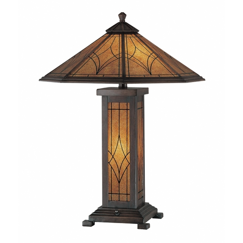 Lite Source Lighting Lite Source Lighting Odessa Dark Bronze Table Lamp with Hexagon Shade C41014