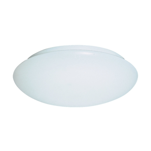 Sea Gull Lighting Modern Flushmount Light with White in White Finish 5901BLE-15