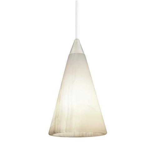 White Onyx Led Minipendant With Dome Canopy P50Mplstnwho