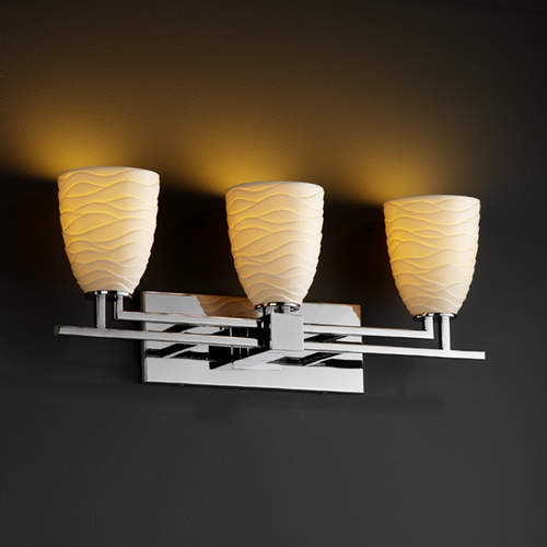 Justice Design Group Justice Design Group Limoges Collection Bathroom Light POR-8703-18-WAVE-CROM