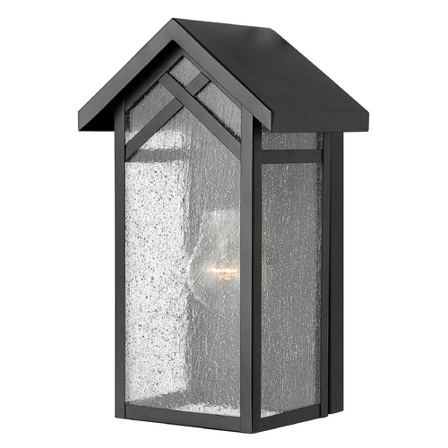Hinkley Lighting Outdoor Wall Light with Clear Glass in Black Finish 1797BK-GU24