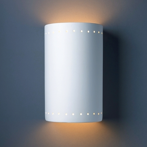 Justice Design Group Outdoor Wall Light in Bisque Finish CER-1295W-BIS