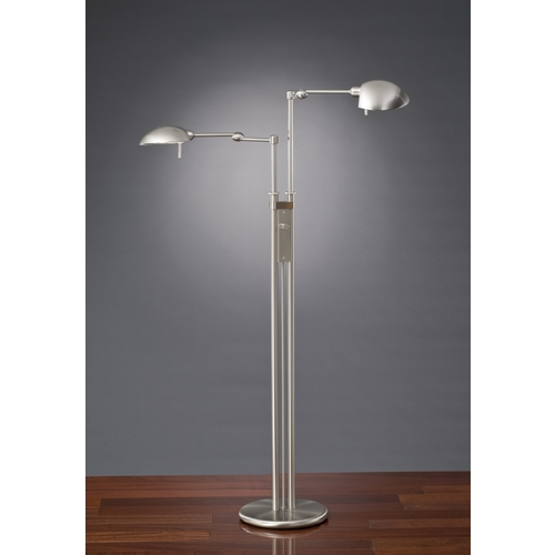 Holtkoetter Lighting Holtkoetter Modern Floor Lamp in Satin Nickel Finish 2505 SN