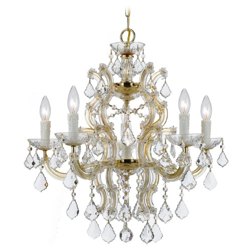 Crystorama Lighting Crystorama Lighting Maria Theresa Gold Crystal Chandelier 4335-GD-CL-SAQ