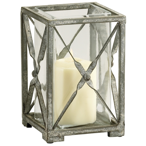 Cyan Design Cyan Design Ascot Rustic Gray Candle Holder 04288