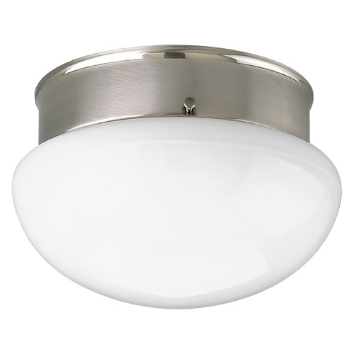 Progress Lighting Progress Lighting Fitter Brushed Nickel Flushmount Light P3408-09WB