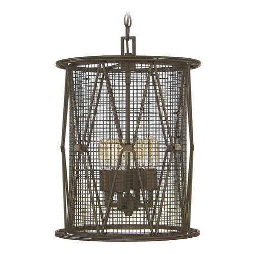 Capital Lighting Capital Lighting Jackson Oil Rubbed Bronze Pendant Light with Cylindrical Shade 4898OR