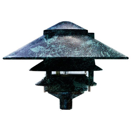 Dabmar Lighting Verde Green Cast Aluminum Three Tier Pagoda Light D5300-VG