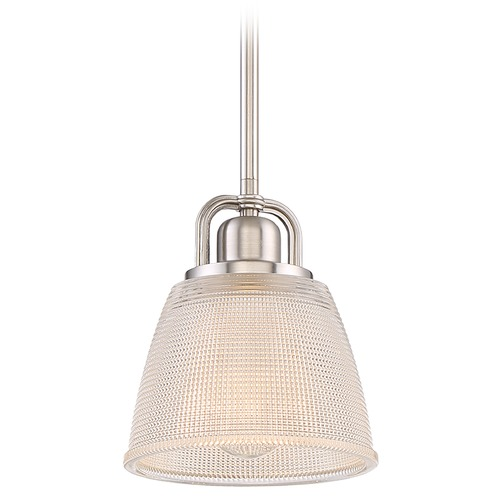 Quoizel Lighting Quoizel Lighting Dublin Brushed Nickel Mini-Pendant Light with Bowl / Dome Shade DBN1506BN