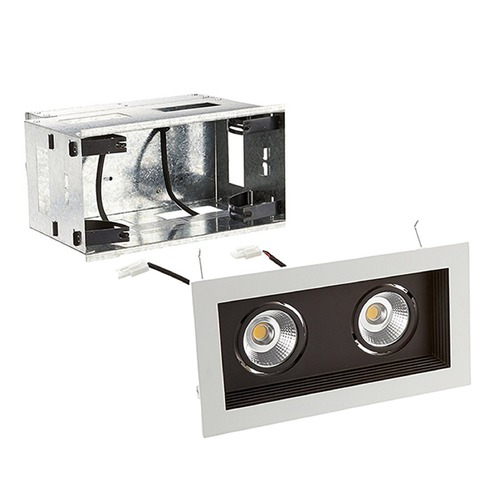 WAC Lighting WAC Lighting Mini Multiples Black LED Recessed Kit MT-3LD211R-W935-BK