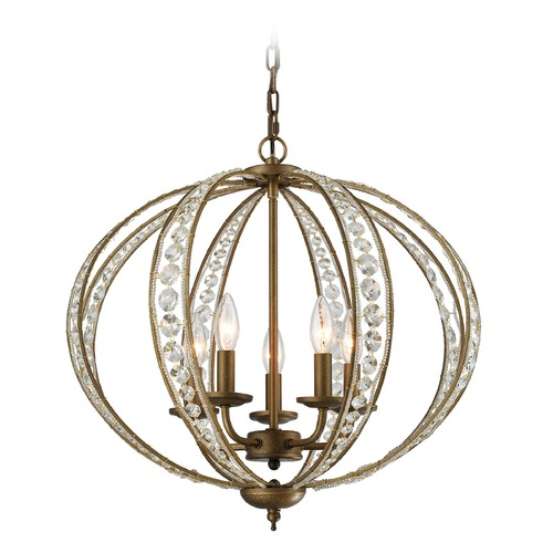 Elk Lighting Elk Lighting Elizabethan Dark Bronze Mini-Chandelier 15965/5