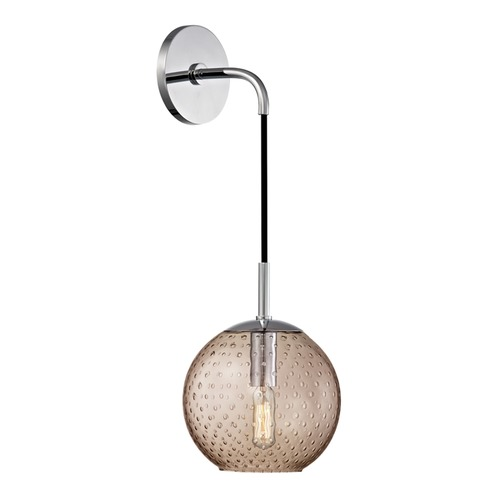 Hudson Valley Lighting Mid-Century Modern Sconce Chrome Rousseau by Hudson Valley Lighting 2020-PC-BZ