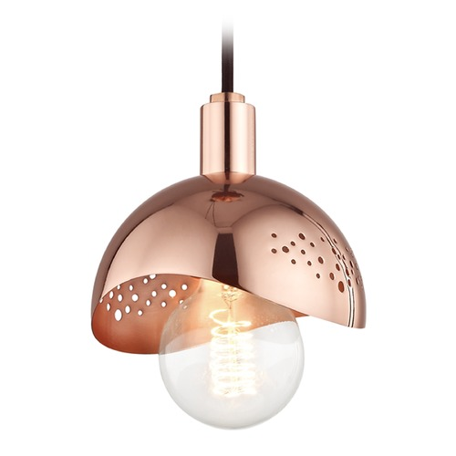 Hudson Valley Lighting Mid-Century Modern Mini-Pendant Light Copper Mitzi Heidi by Hudson Valley H131701-POC
