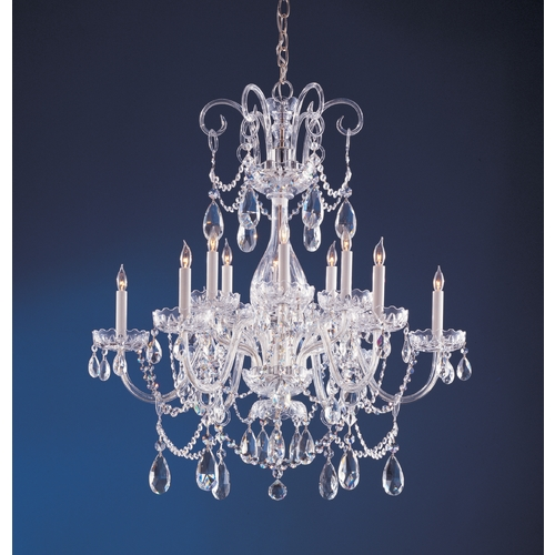 Crystorama Lighting Crystal Chandelier in Polished Chrome Finish 1035-CH-CL-MWP