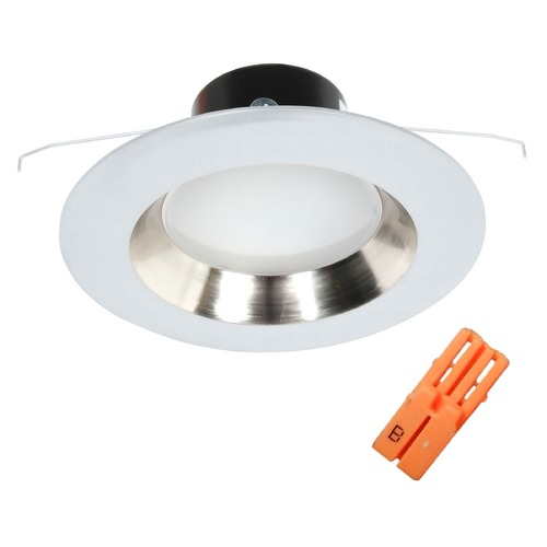 Recesso Lighting by Dolan Designs LED Reflector Retrofit Trim in Satin Nickel with Title 24 Converter for 5 or 6 Inch Recessed Cans 10902-05 KIT W/MALE WIRE CONNECTOR