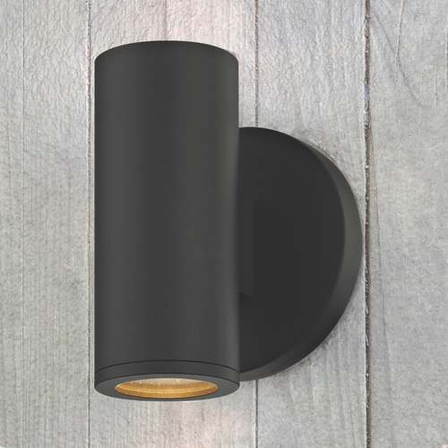Design Classics Lighting LED Black Outdoor Wall Light Cylinder 2700K 1771-07 S9382 LED 2700K