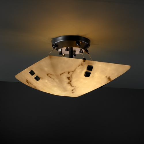 Justice Design Group Justice Design Group Lumenaria Collection Semi-Flushmount Light FAL-9650-25-MBLK-F2