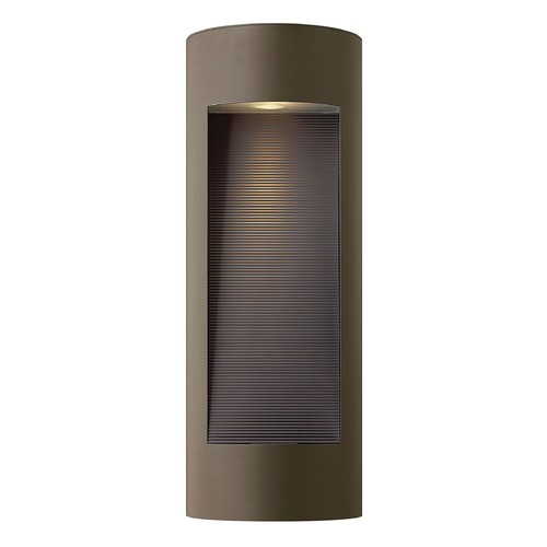 Hinkley Modern Outdoor Wall Light with Etched in Bronze Finish 1664BZ