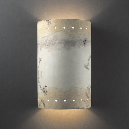 Justice Design Group Outdoor Wall Light in Greco Travertine Finish CER-1295W-TRAG