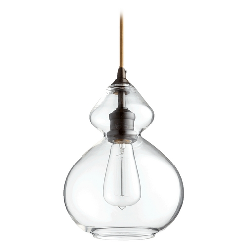 Quorum Lighting Quorum Lighting Oiled Bronze W/ Clear Mini-Pendant Light 8002-86