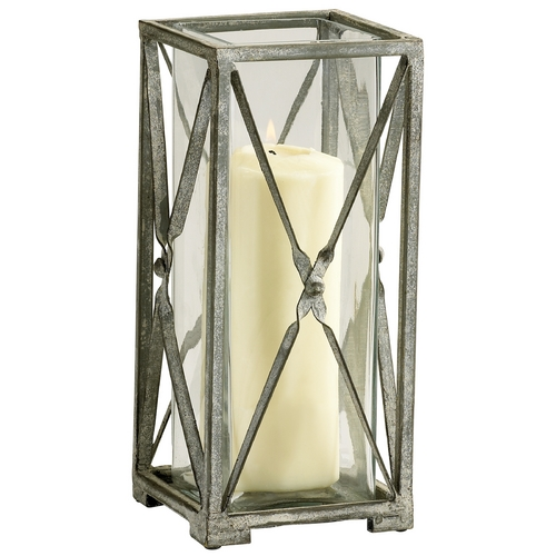 Cyan Design Cyan Design Ascot Rustic Gray Candle Holder 04289