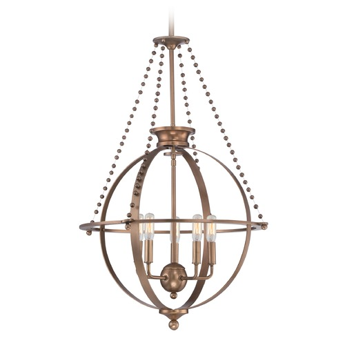 Quoizel Lighting Quoizel Uptown Apollo Weathered Brass Pendant Light UPAP2822WS
