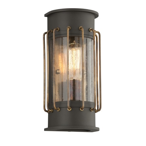 Troy Lighting Troy Lighting Cabot Bronze with Historic Brass Accents LED Outdoor Wall Light BL4661