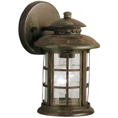 Kichler Lighting Kichler Outdoor Wall Light with Clear Glass in Rustic Finish 9759RST