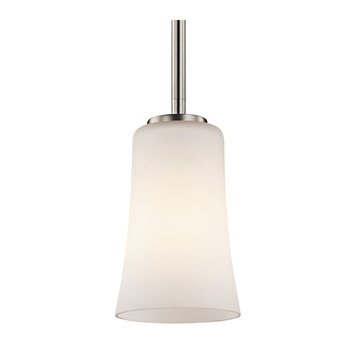 Kichler Lighting Kichler Lighting Armida Brushed Nickel LED Mini-Pendant Light with Bowl / Dome Shade 43077NIL16