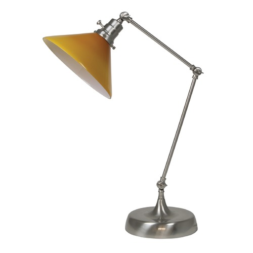 House of Troy Lighting House Of Troy Otis Satin Nickel Table Lamp with Conical Shade OT650-SN-AM