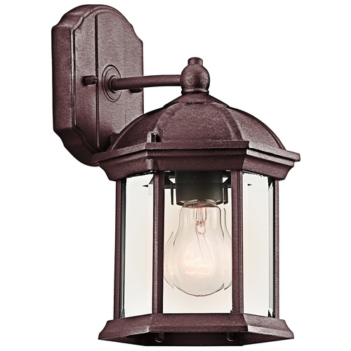 Kichler Lighting Kichler Outdoor Wall Light with Clear Glass in Tannery Bronze Finish 49183TZ