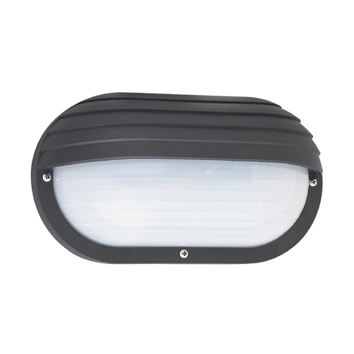 Sea Gull Lighting Energy Star Rated Black Oval Bulkhead Wall Light 89805BLE-12