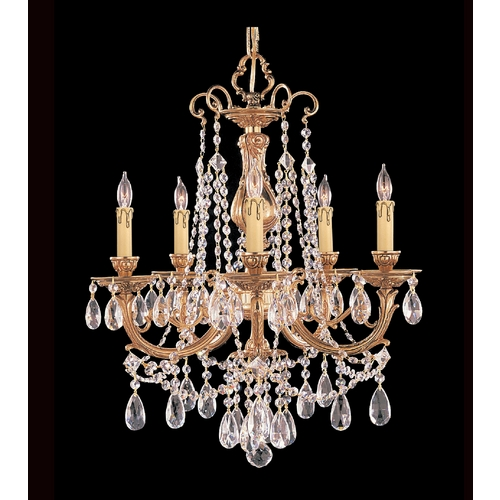 Crystorama Lighting Crystal Mini-Chandelier in Olde Brass Finish 475-OB-CL-MWP