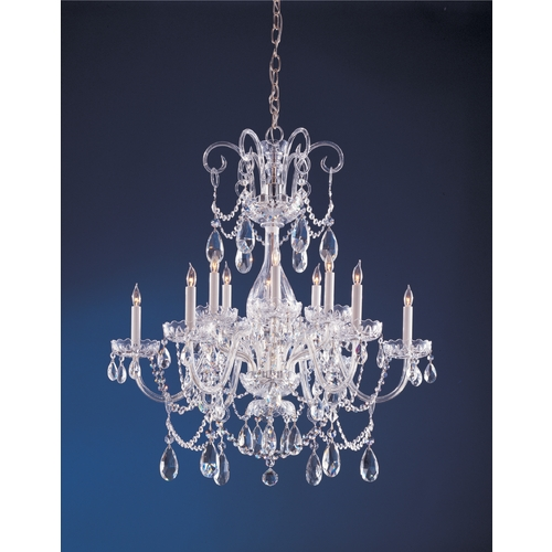 Crystorama Lighting Crystal Chandelier in Polished Chrome Finish 1035-CH-CL-S