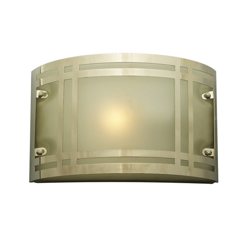 PLC Lighting Modern Outdoor Wall Light with White Glass in Polished Chrome Finish 3601 PC