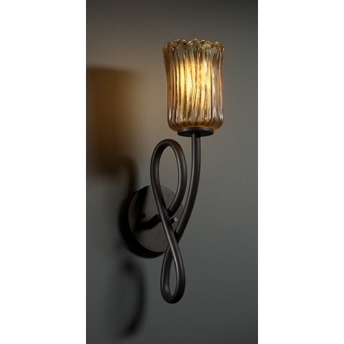 Justice Design Group Justice Design Group Veneto Luce Collection Sconce GLA-8911-16-AMBR-DBRZ
