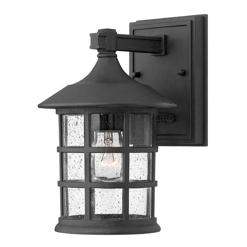 Hinkley Lighting Outdoor Wall Light with Clear Glass in Black Finish 1800BK-GU24