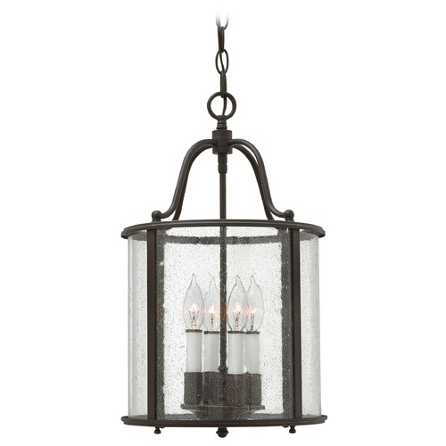 Hinkley Hinkley Gentry Olde Bronze Pendant Light with Cylindrical Shade 3474OB