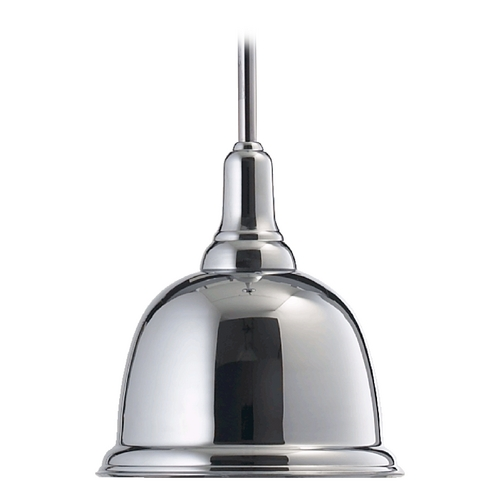 Quorum Lighting Quorum Lighting Chrome Mini-Pendant Light with Bowl / Dome Shade 802-10-14
